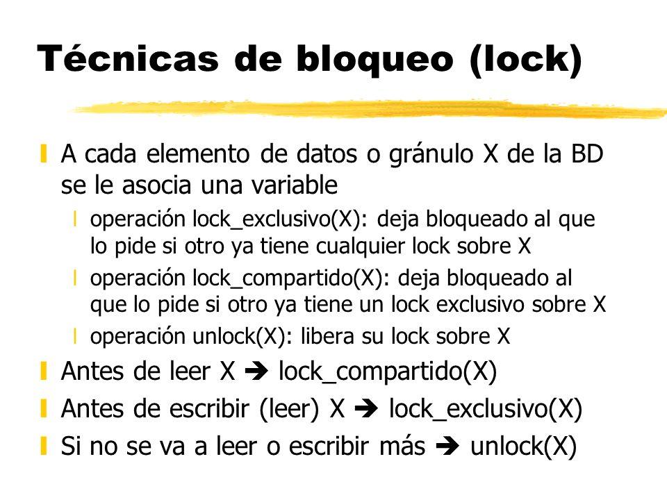 Técnicas de bloqueo (lock)