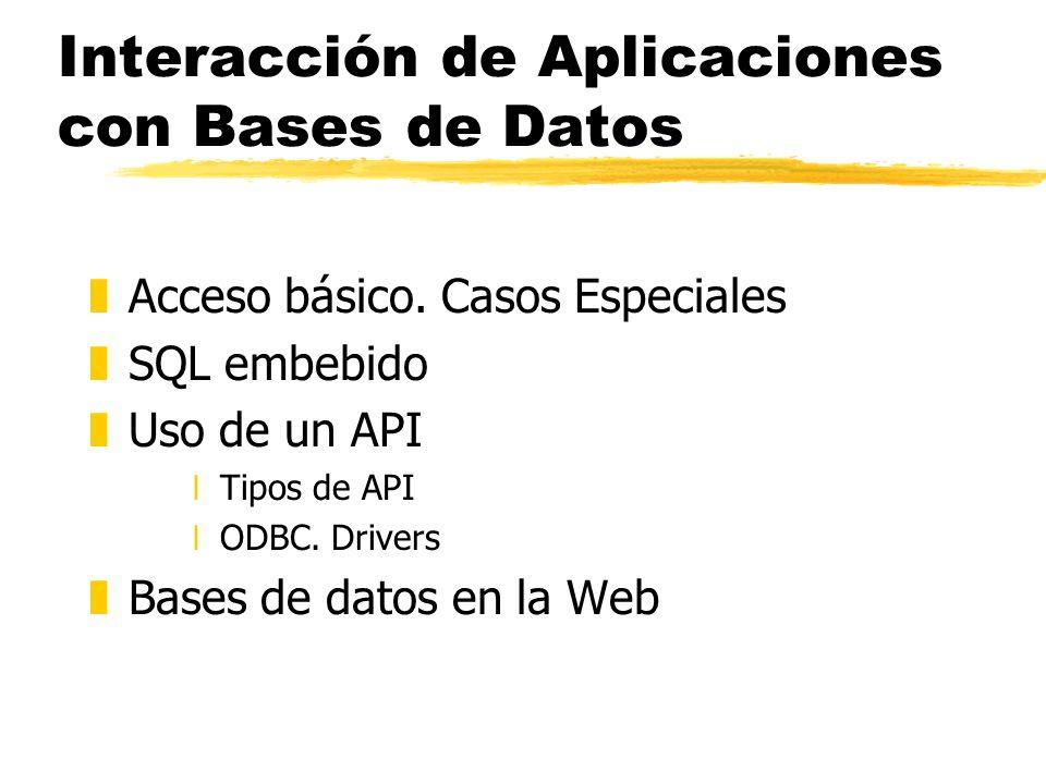 Interacción de Aplicaciones con Bases de Datos