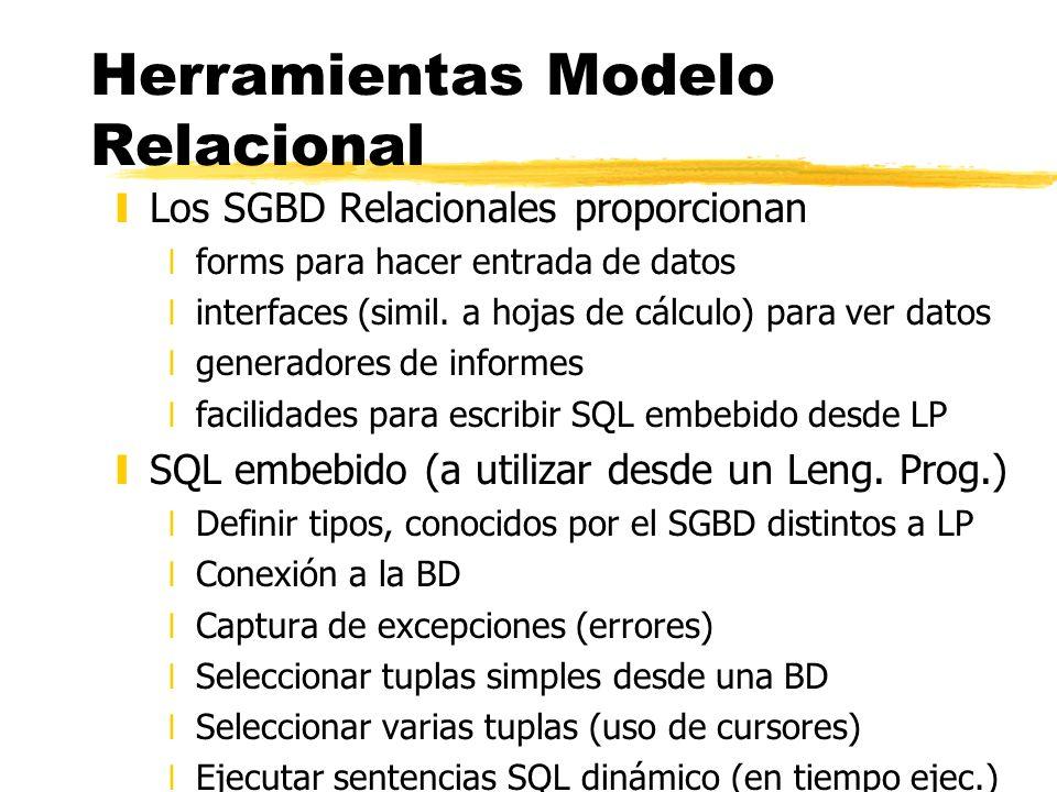 Herramientas Modelo Relacional
