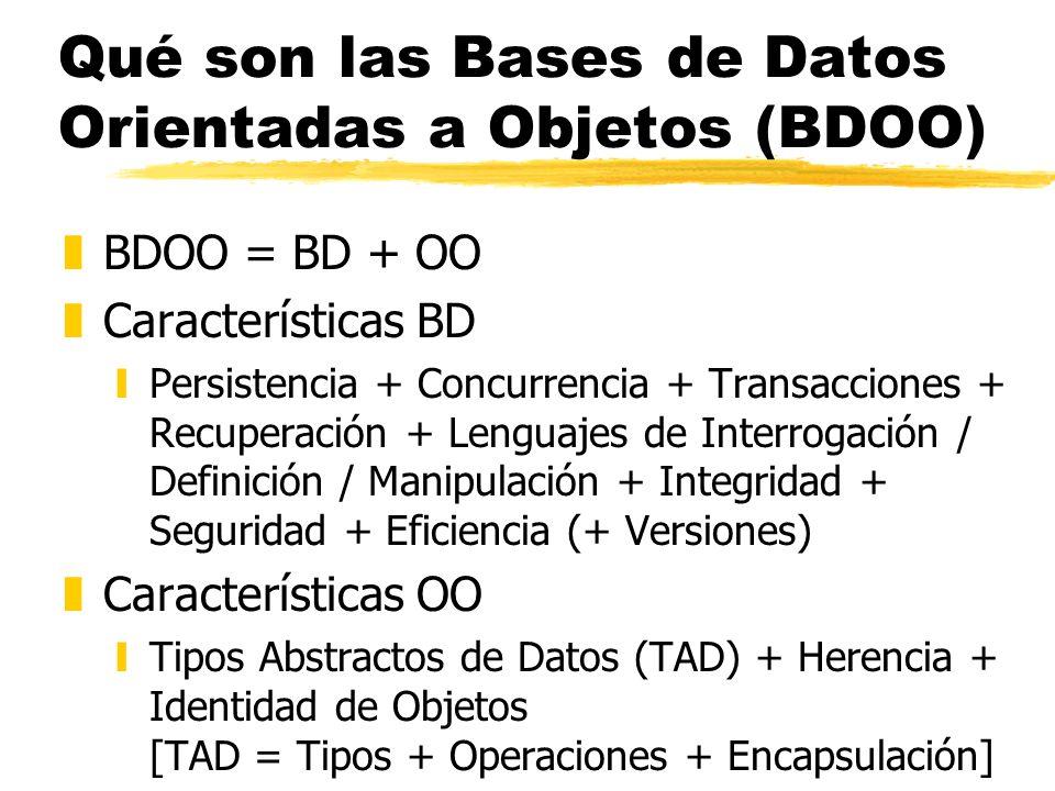 Qué son las Bases de Datos Orientadas a Objetos (BDOO)