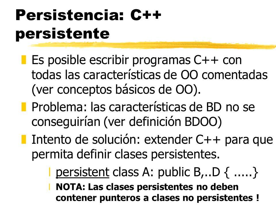 Persistencia: C++ persistente