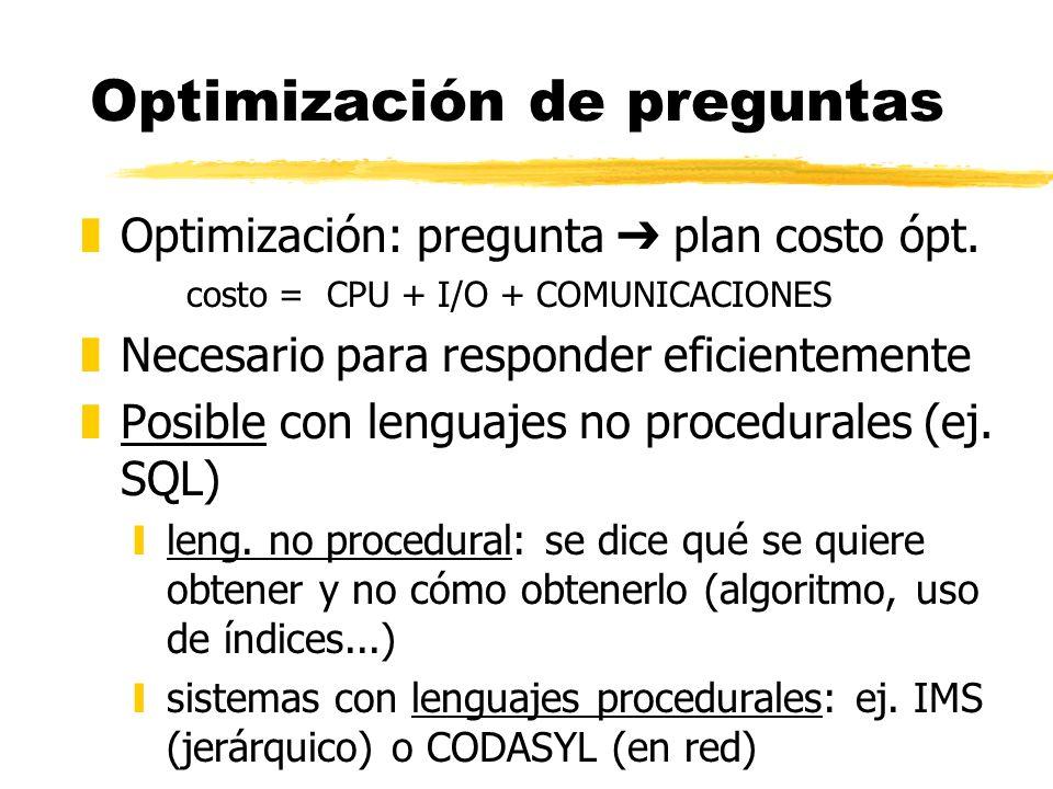 Optimización de preguntas