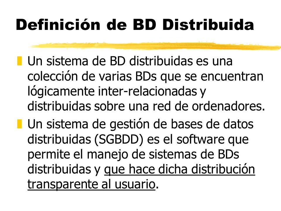 Definición de BD Distribuida
