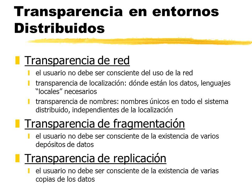 Transparencia en entornos Distribuidos