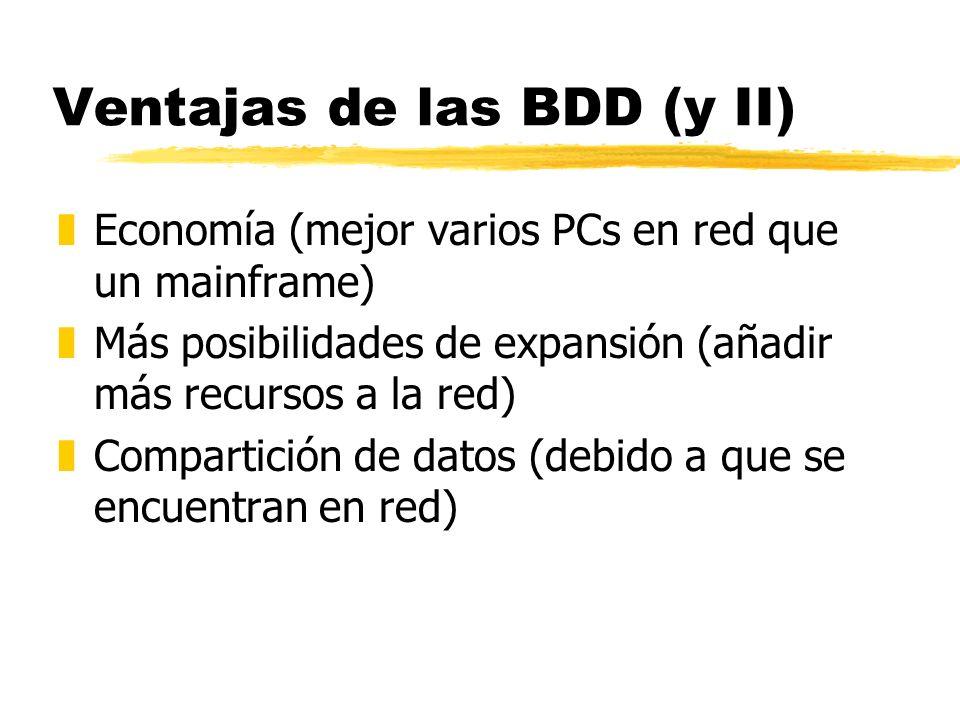 Ventajas de las BDD (y II)