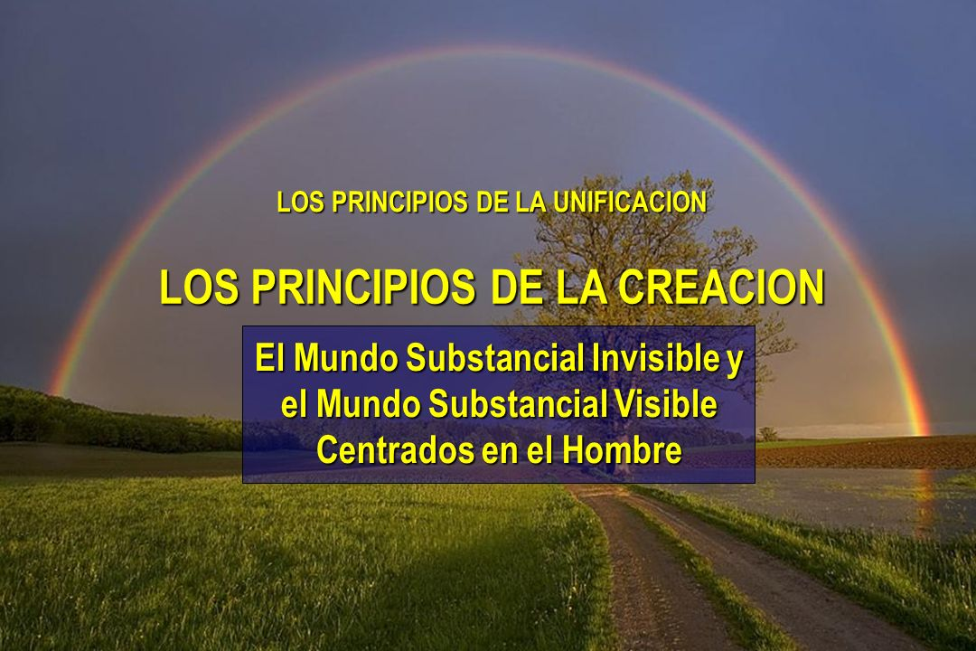 LOS PRINCIPIOS DE LA UNIFICACION LOS PRINCIPIOS DE LA CREACION