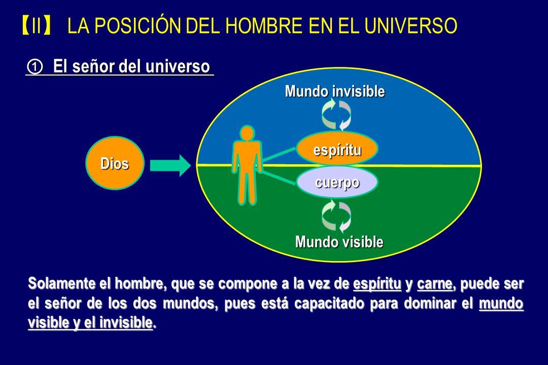 【II】 LA POSICIÓN DEL HOMBRE EN EL UNIVERSO