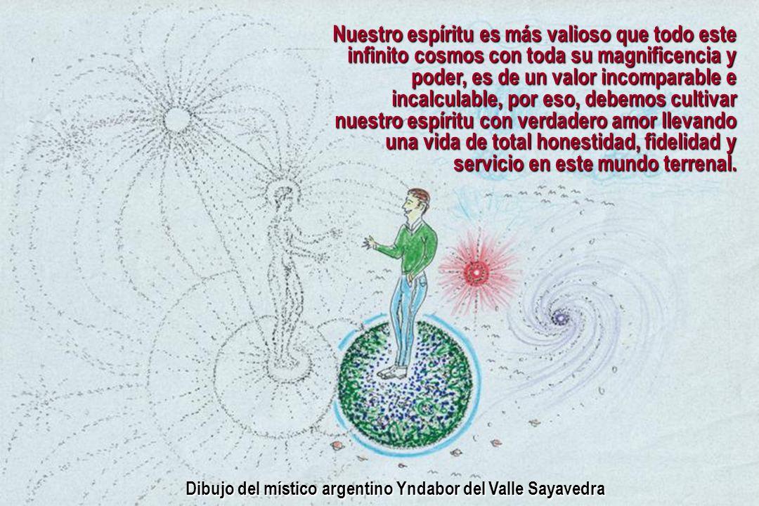 Dibujo del místico argentino Yndabor del Valle Sayavedra