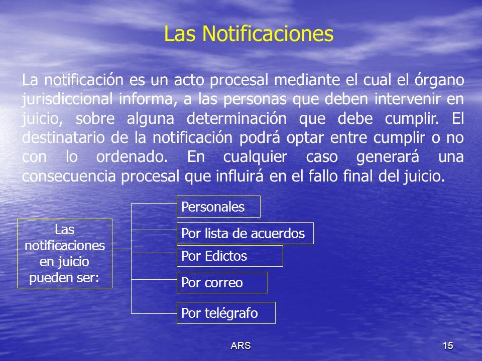 Las notificaciones en juicio pueden ser: