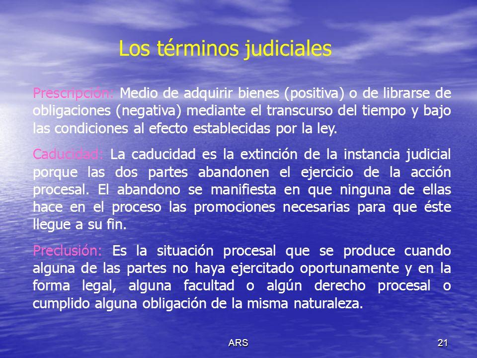 Los términos judiciales