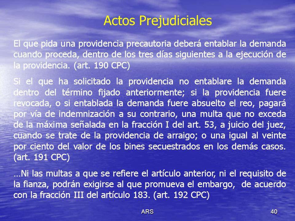 Actos Prejudiciales