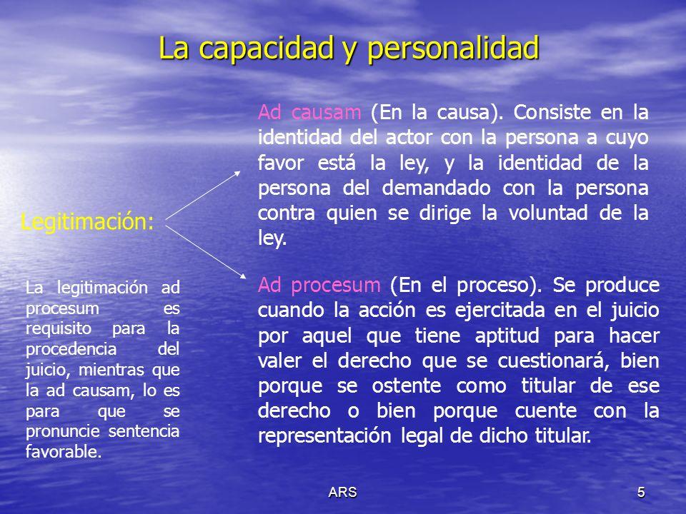 La capacidad y personalidad