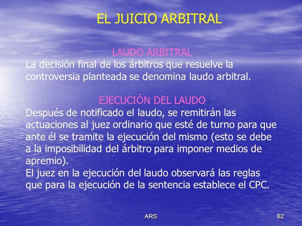 EL JUICIO ARBITRAL LAUDO ARBITRAL