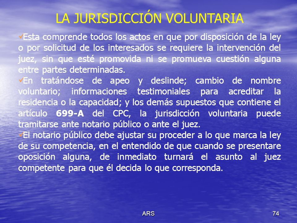 LA JURISDICCIÓN VOLUNTARIA
