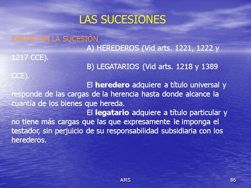 LAS SUCESIONES PARTES EN LA SUCESIÓN
