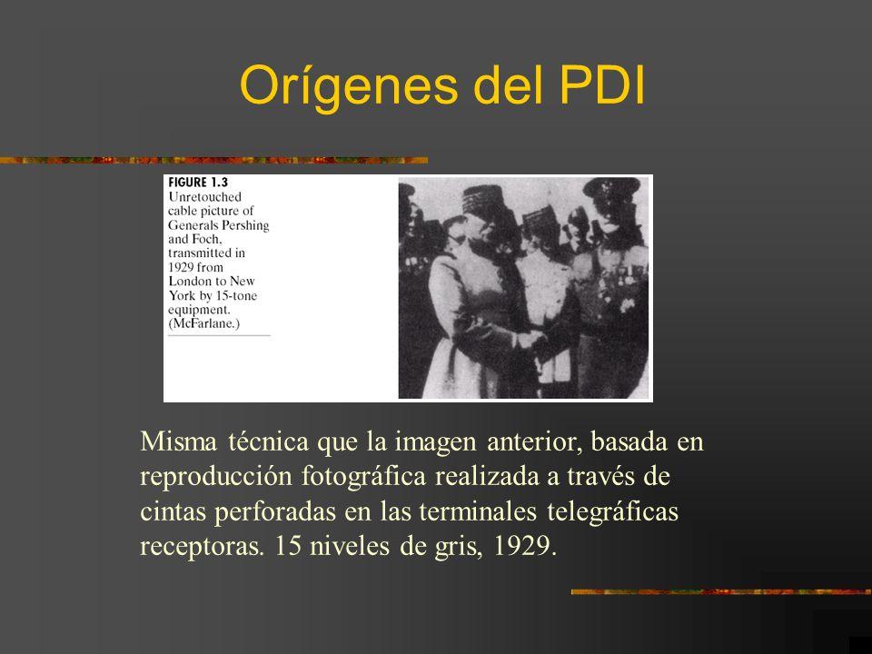 Orígenes del PDI Misma técnica que la imagen anterior, basada en