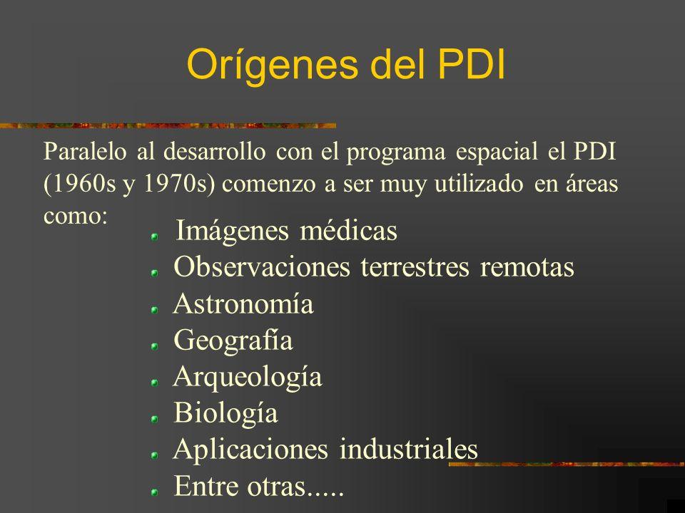 Orígenes del PDI Observaciones terrestres remotas Astronomía Geografía