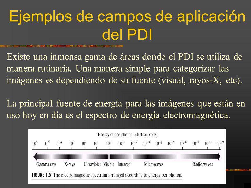 Ejemplos de campos de aplicación del PDI