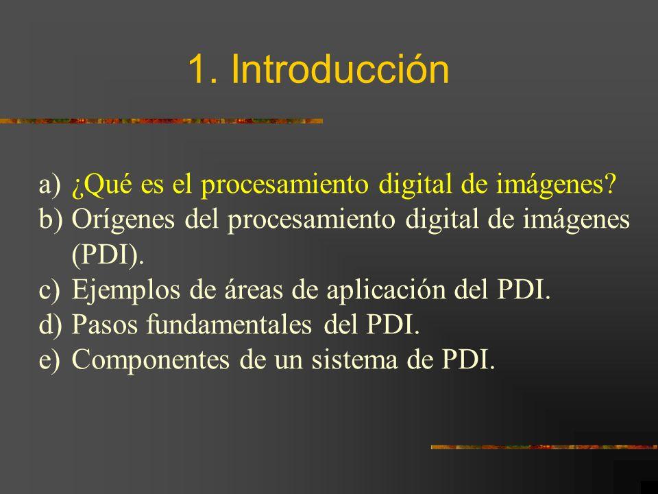 1. Introducción ¿Qué es el procesamiento digital de imágenes