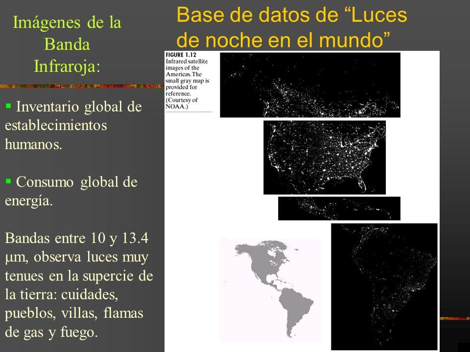 Base de datos de Luces de noche en el mundo