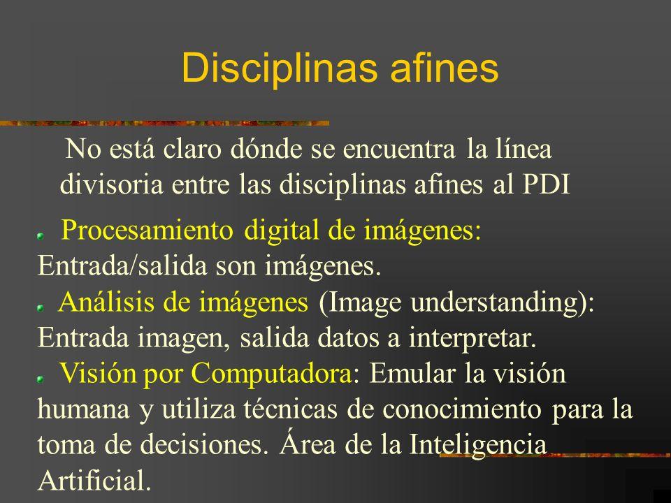 Disciplinas afines divisoria entre las disciplinas afines al PDI