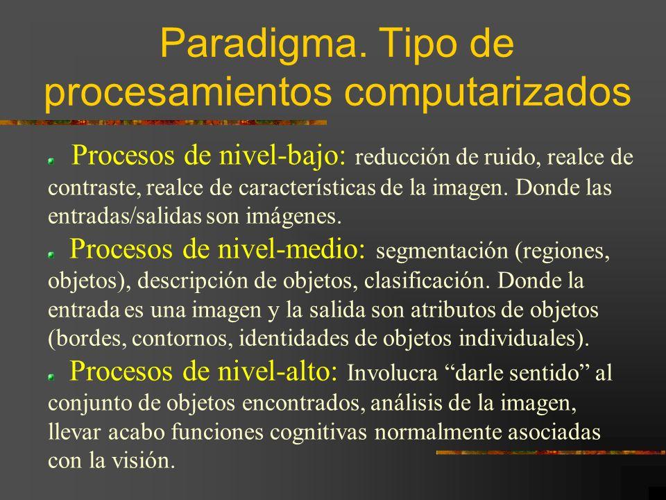 Paradigma. Tipo de procesamientos computarizados