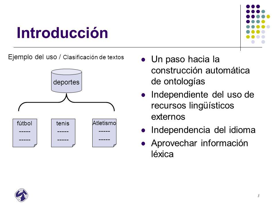 Introducción Un paso hacia la construcción automática de ontologías