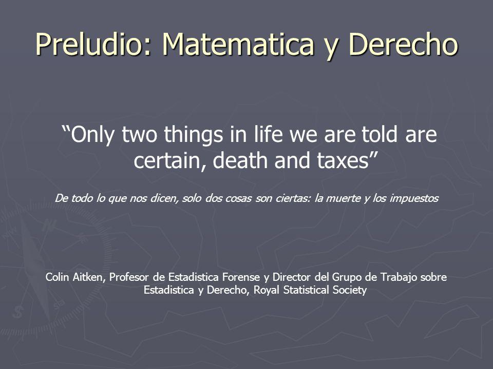 Preludio: Matematica y Derecho