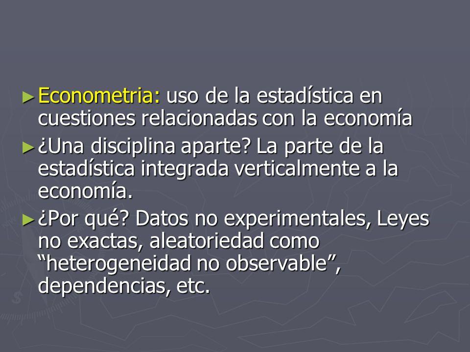 Econometria: uso de la estadística en cuestiones relacionadas con la economía
