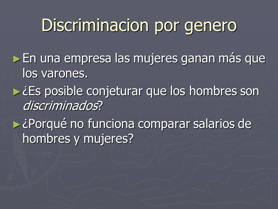 Discriminacion por genero