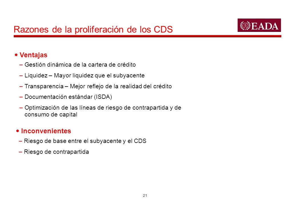 Razones de la proliferación de los CDS