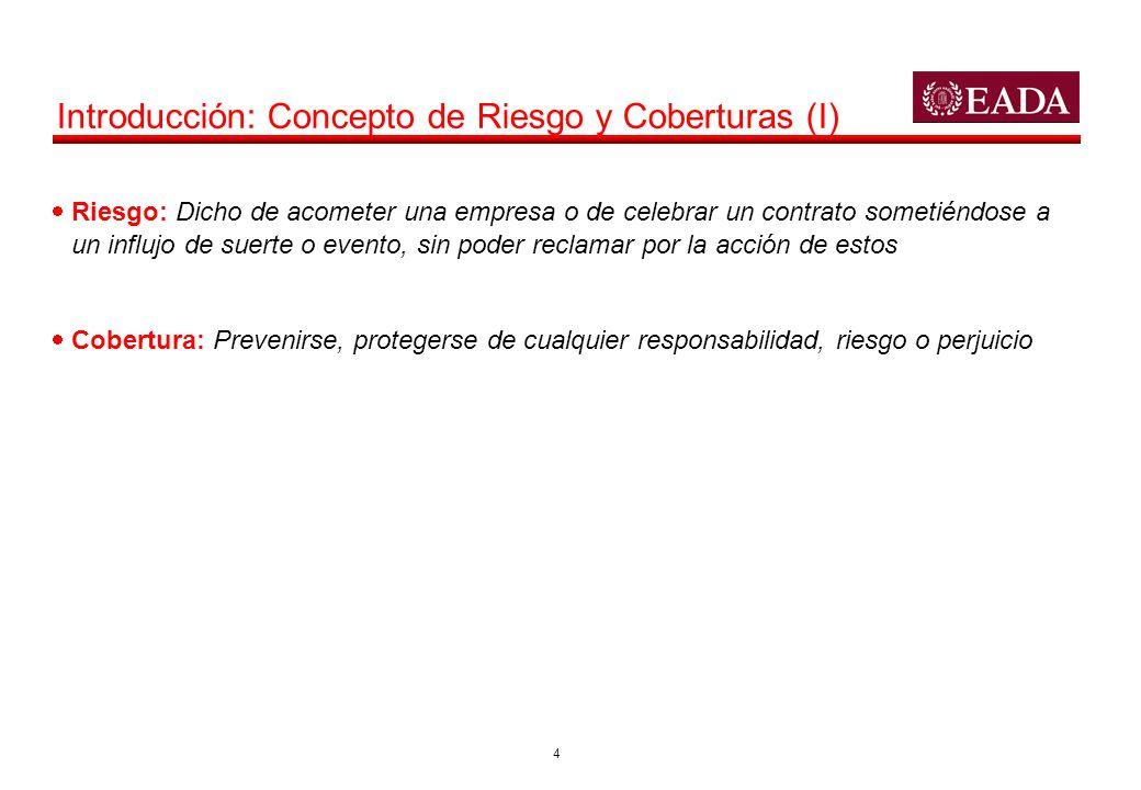 Introducción: Concepto de Riesgo y Coberturas (I)