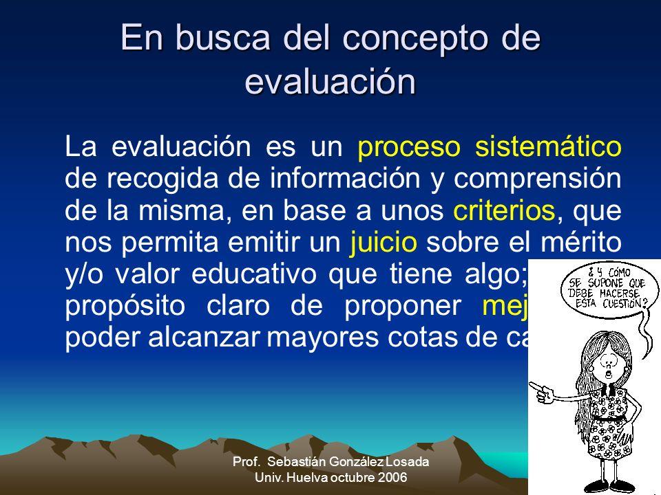 En busca del concepto de evaluación