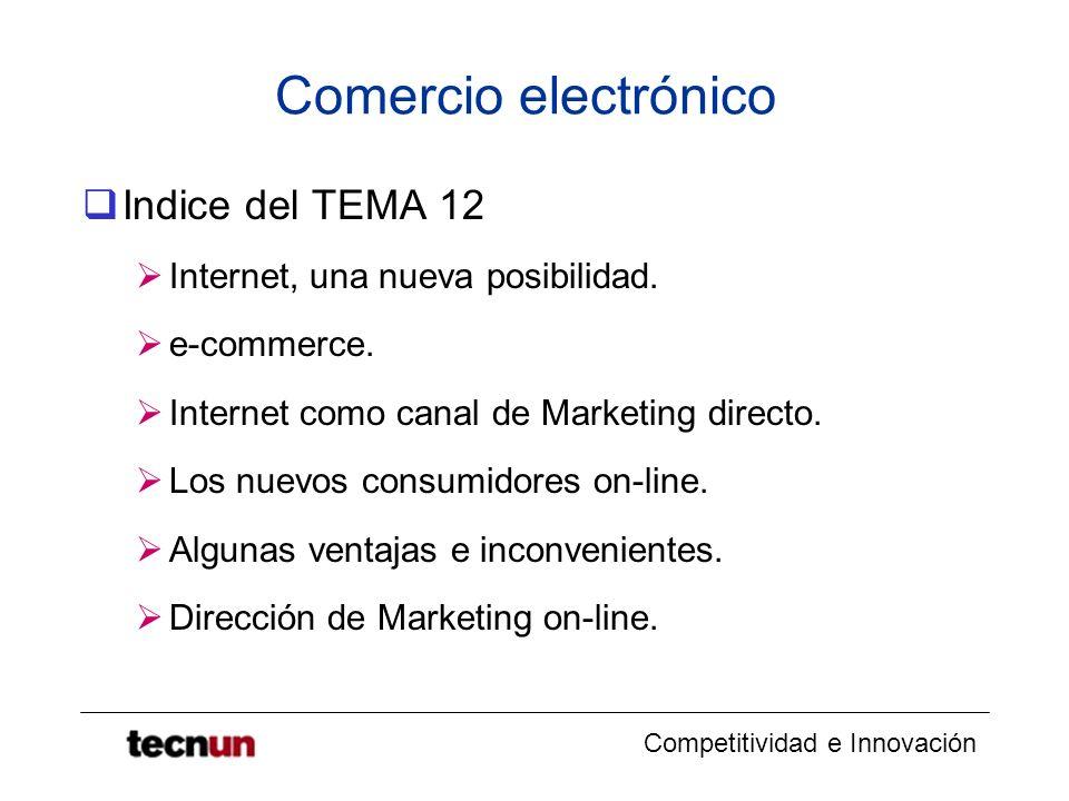Comercio electrónico Indice del TEMA 12