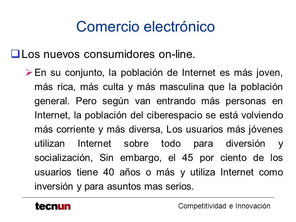 Comercio electrónico Los nuevos consumidores on-line.
