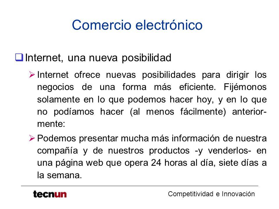Comercio electrónico Internet, una nueva posibilidad