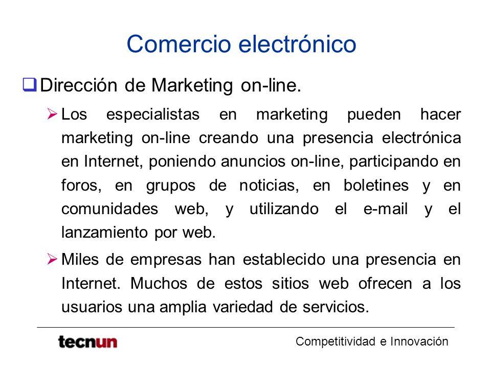 Comercio electrónico Dirección de Marketing on-line.