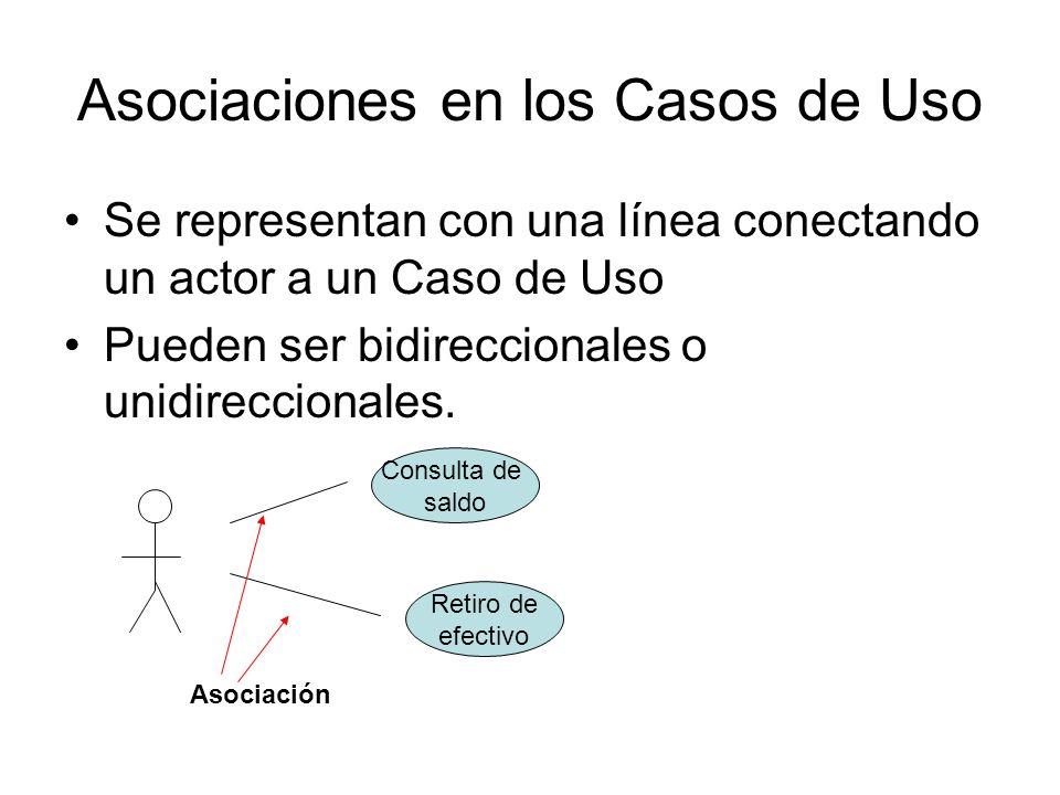 Asociaciones en los Casos de Uso