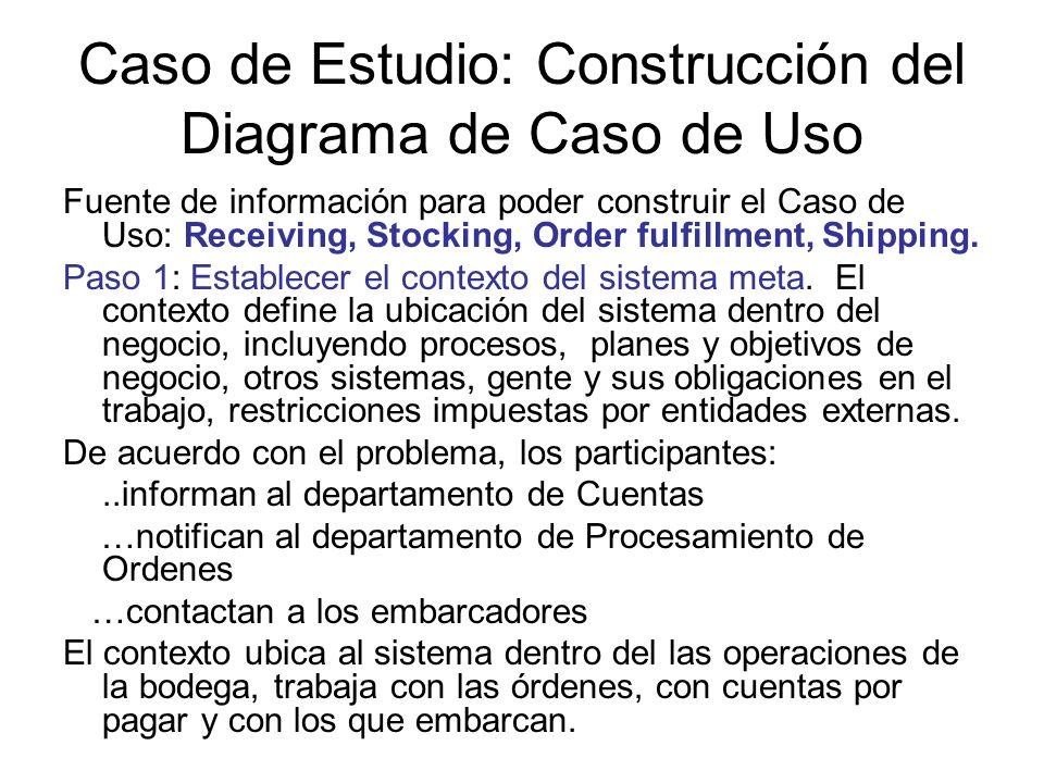 Caso de Estudio: Construcción del Diagrama de Caso de Uso