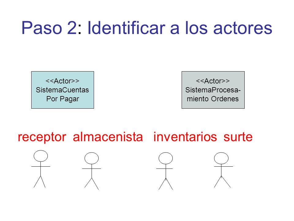 Paso 2: Identificar a los actores
