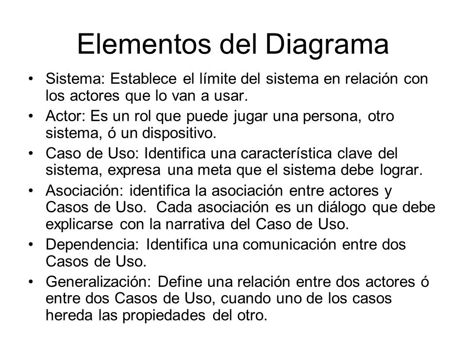 Elementos del Diagrama