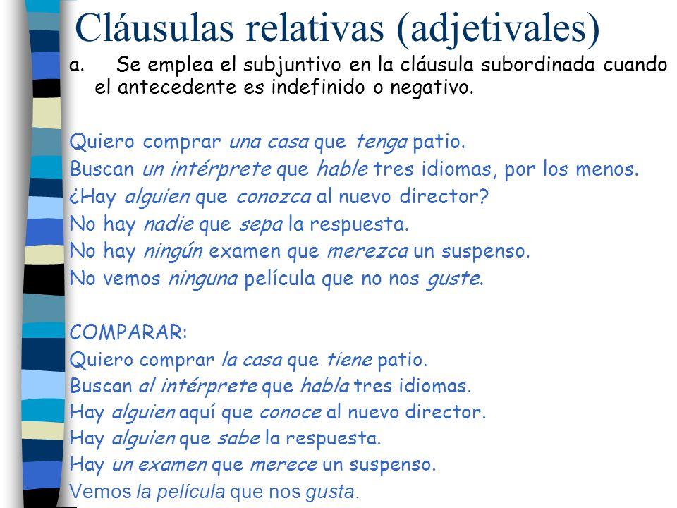 Cláusulas relativas (adjetivales)