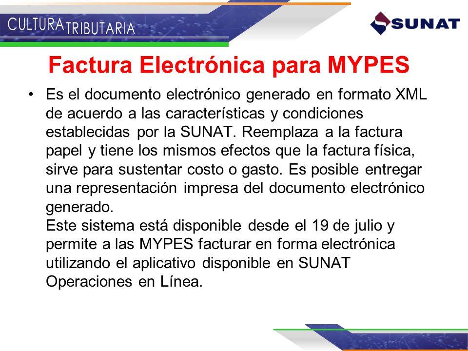 Factura Electrónica para MYPES