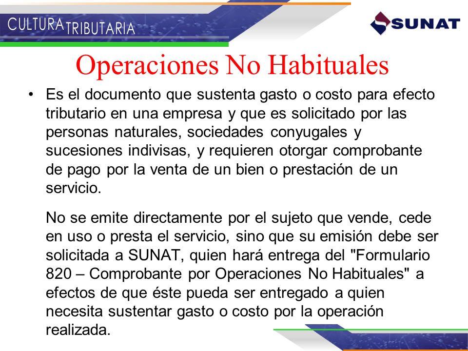 Operaciones No Habituales