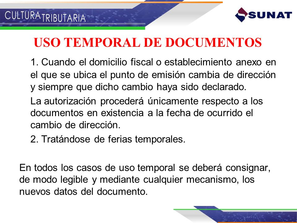 USO TEMPORAL DE DOCUMENTOS