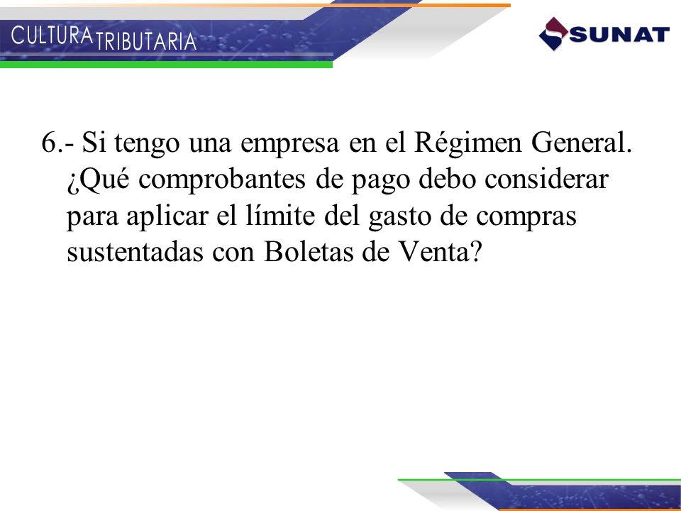 6. - Si tengo una empresa en el Régimen General