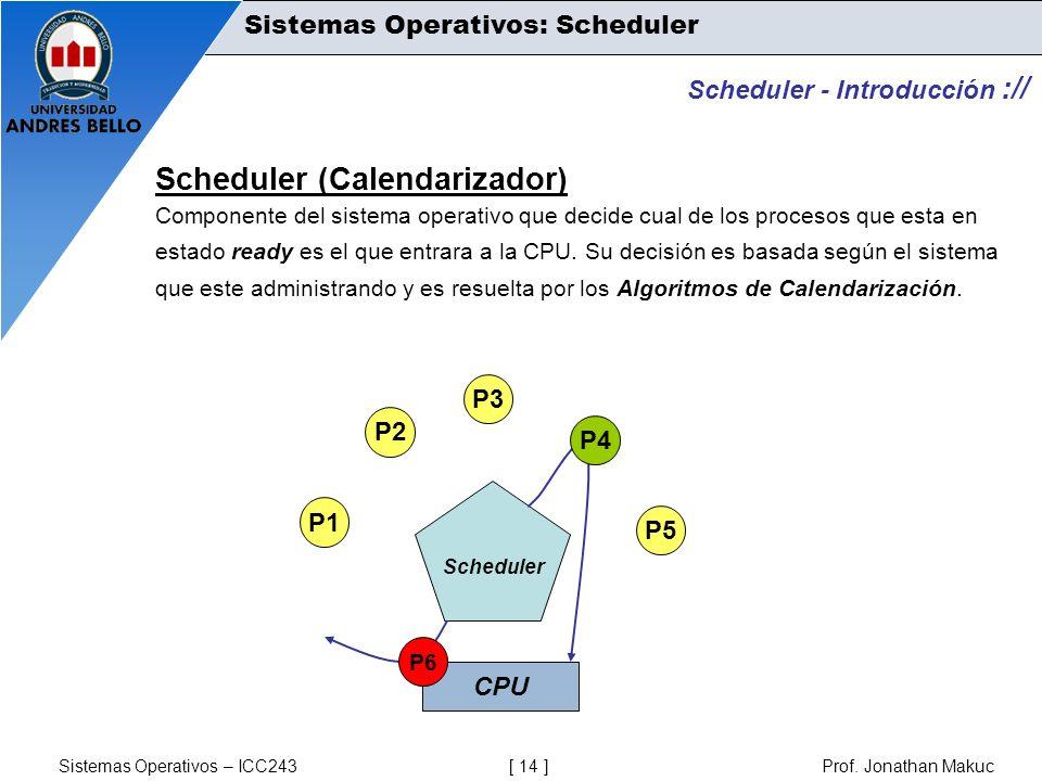 Scheduler (Calendarizador)
