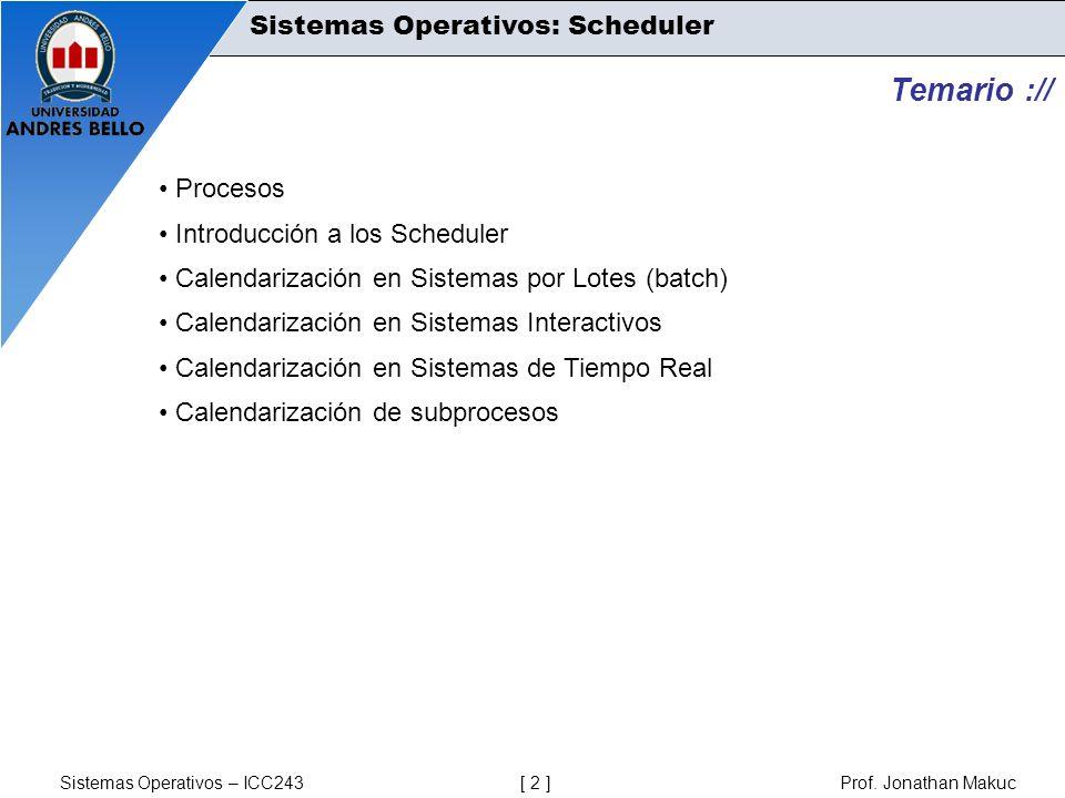 Temario :// Sistemas Operativos: Scheduler Procesos