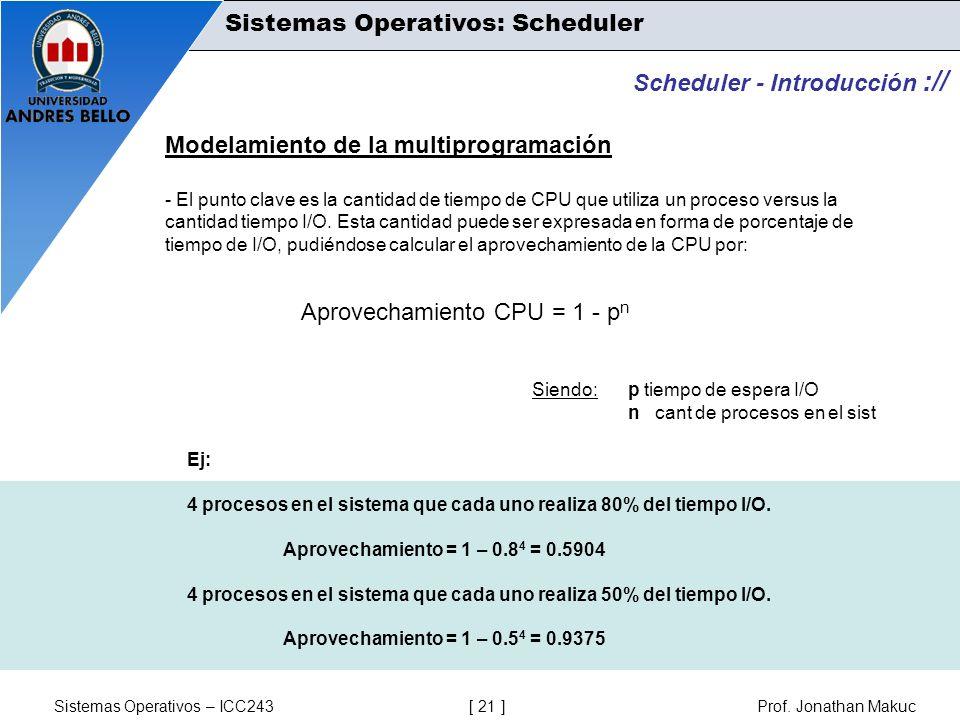 Sistemas Operativos: Scheduler
