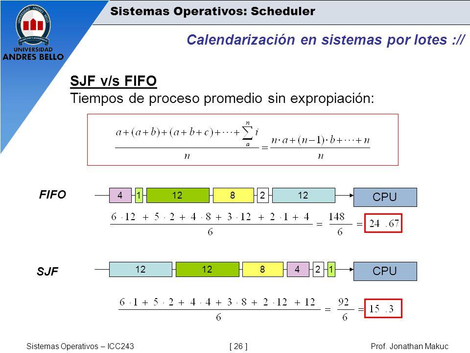 Calendarización en sistemas por lotes ://